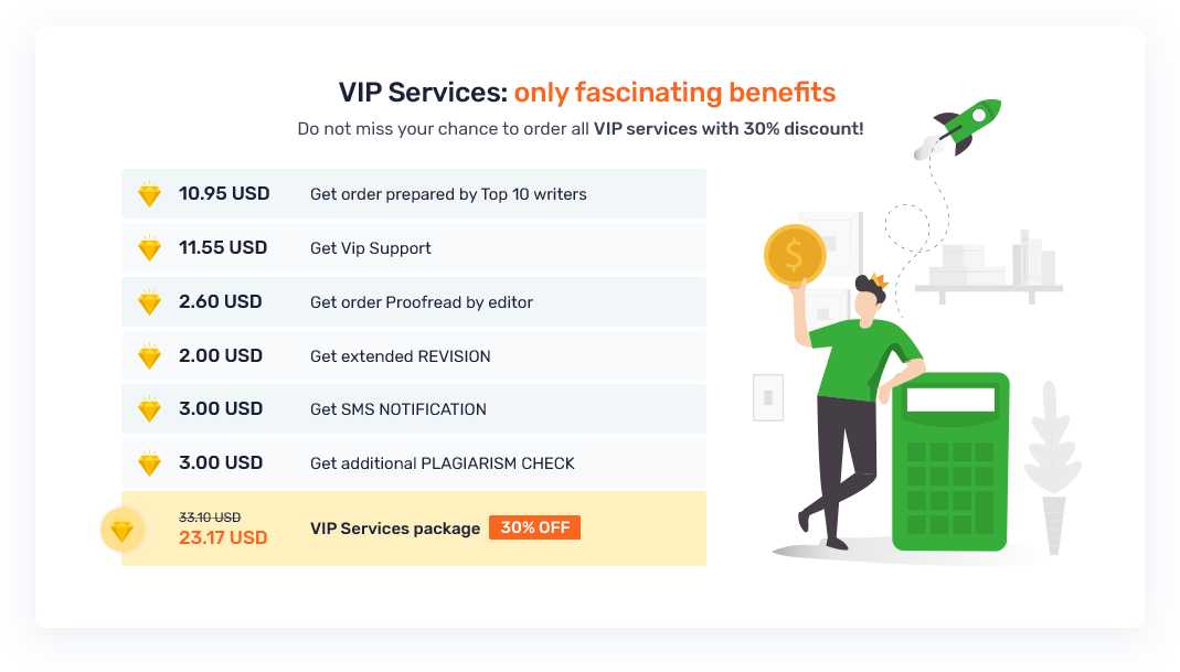 VIP Services Package desktop