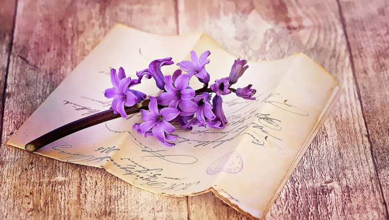 letter and flower