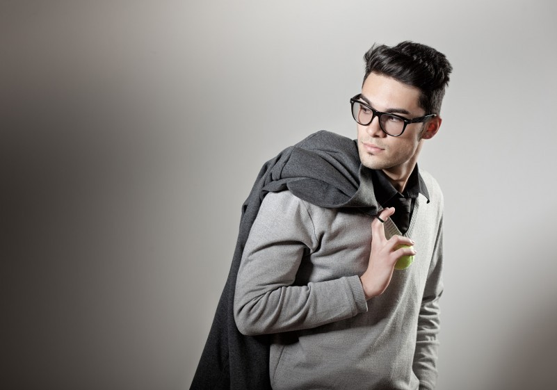 attractive man dressed casual wearing glasses