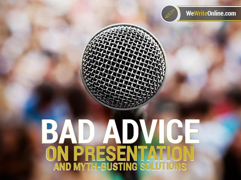Horrible Pieces Of Public Speaking Advice