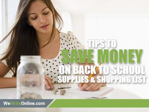 Back- to-school money saving tips