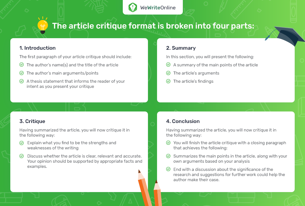four parts of article critique