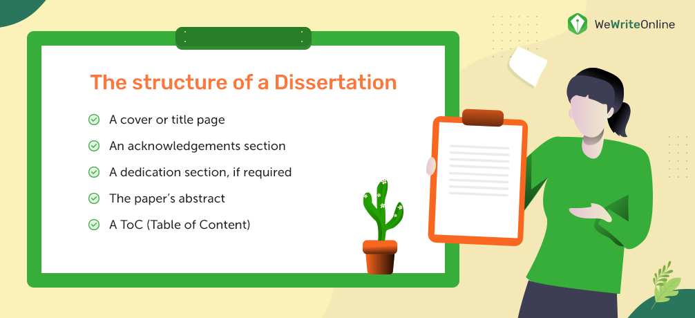 The structure of a Dissertation
